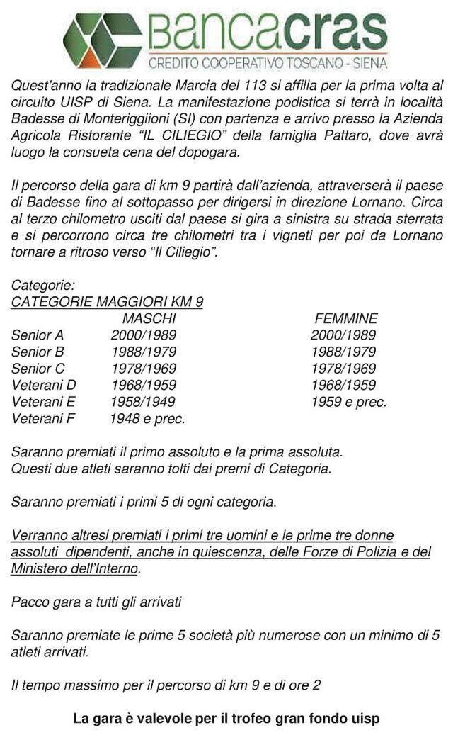 www.atleticafollonica.it - 33° Marcia del 113